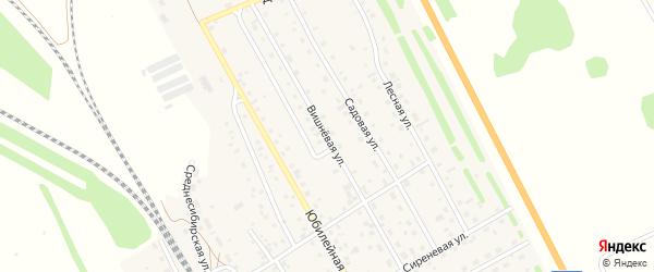 Вишневая улица на карте Среднесибирского поселка с номерами домов