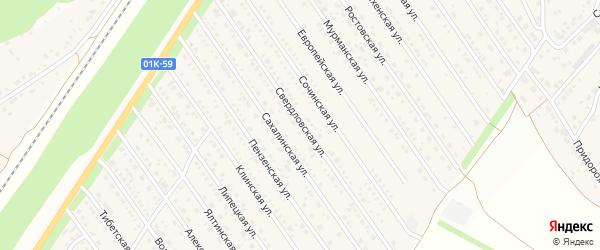 Свердловская улица на карте Центрального поселка с номерами домов