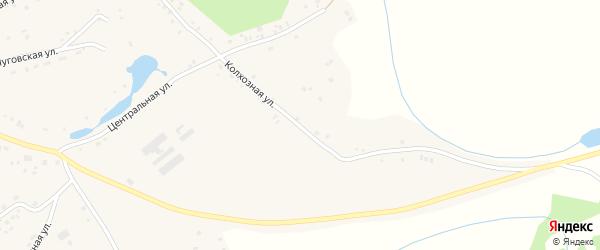 Колхозная улица на карте Лугового села с номерами домов