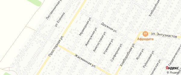 Жемчужная улица на карте Барнаула с номерами домов
