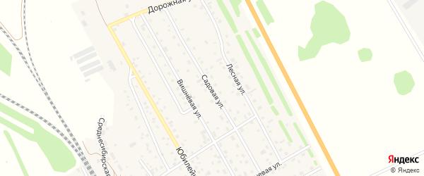 Садовая улица на карте Среднесибирского поселка с номерами домов