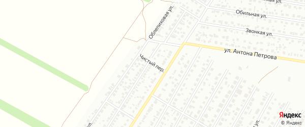 Чистый переулок на карте Барнаула с номерами домов
