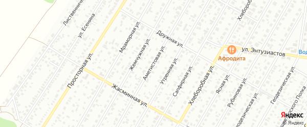Аметистовая улица на карте Барнаула с номерами домов