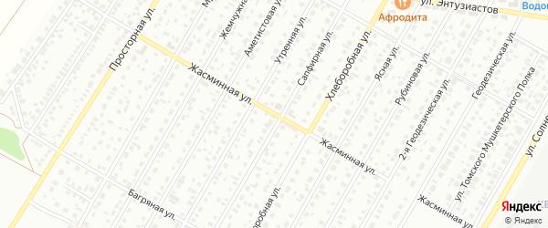 Жасминная улица на карте Барнаула с номерами домов