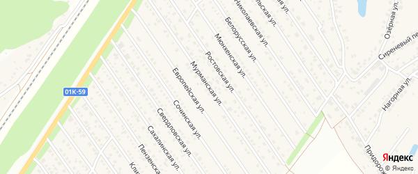 Мурманская улица на карте Центрального поселка с номерами домов