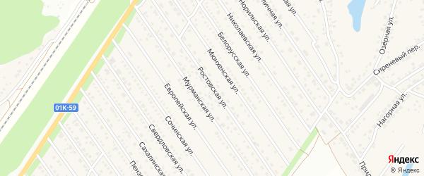 Ростовская улица на карте Центрального поселка с номерами домов