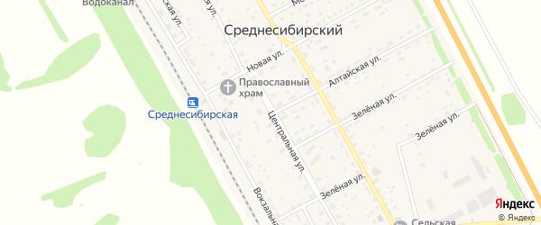 Центральная улица на карте села Шипицино с номерами домов