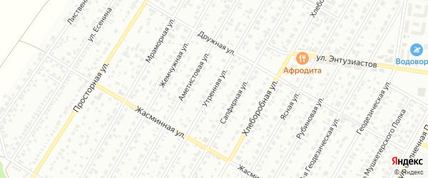 Утренняя улица на карте Барнаула с номерами домов