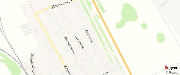 Лесная улица на карте Среднесибирского поселка с номерами домов