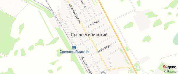 Карта Среднесибирского поселка в Алтайском крае с улицами и номерами домов