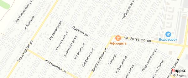 Дружная улица на карте Барнаула с номерами домов