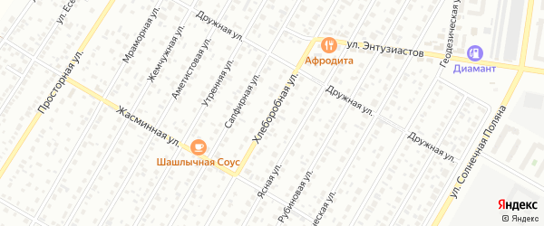 Хлеборобная улица на карте Барнаула с номерами домов