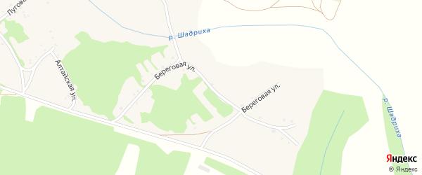 Береговая улица на карте села Шадрино с номерами домов