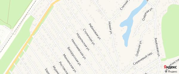 Столичная улица на карте Центрального поселка с номерами домов