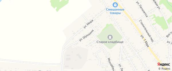 Улица Шукшина на карте села Усть-Чарышской Пристани с номерами домов