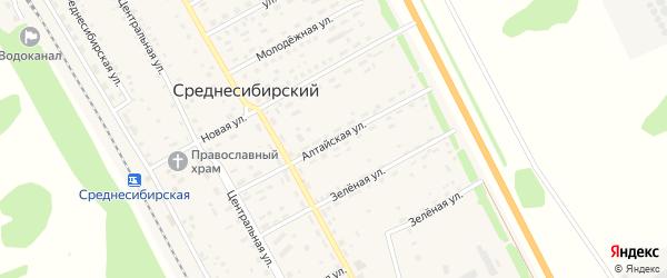 Алтайская улица на карте Среднесибирского поселка с номерами домов
