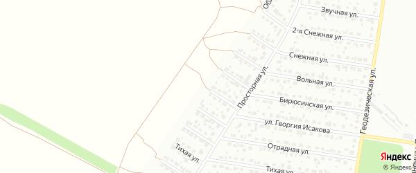 Облепиховая улица на карте Барнаула с номерами домов