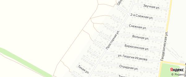 Облепиховая улица на карте садового некоммерческого товарищества Медика с номерами домов