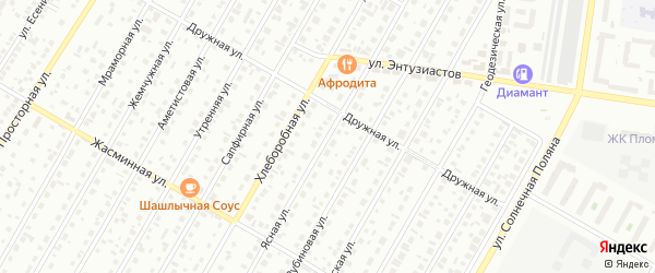 Ясная улица на карте Барнаула с номерами домов