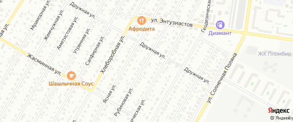 Рубиновая улица на карте Барнаула с номерами домов