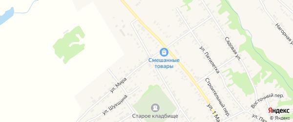 Улица Мира на карте села Усть-Чарышской Пристани с номерами домов