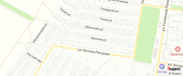 Звонкая улица на карте Барнаула с номерами домов