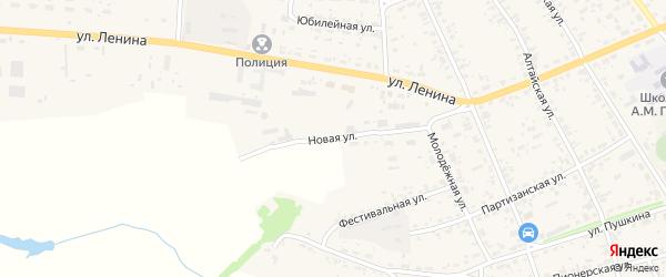 Новая улица на карте села Усть-Чарышской Пристани с номерами домов