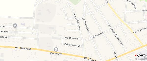 Западный переулок на карте села Усть-Чарышской Пристани с номерами домов