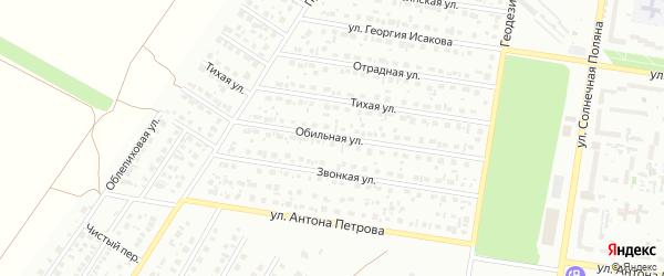 Обильная улица на карте Барнаула с номерами домов