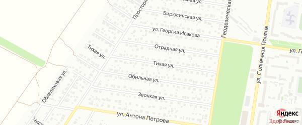 Тихая улица на карте садового некоммерческого товарищества Полета с номерами домов