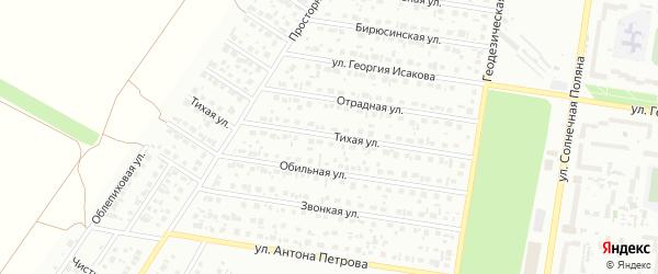 Тихая улица на карте Барнаула с номерами домов