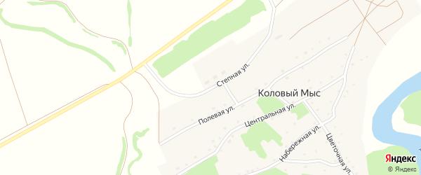 Степная улица на карте села Колового Мыса с номерами домов