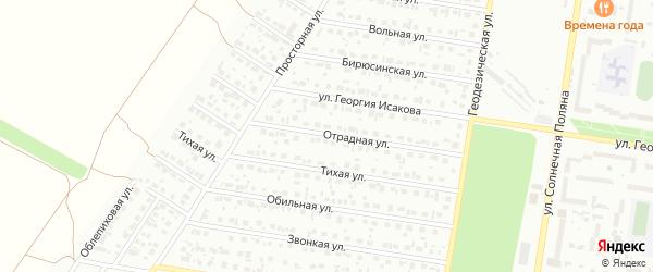 Отрадная улица на карте Барнаула с номерами домов