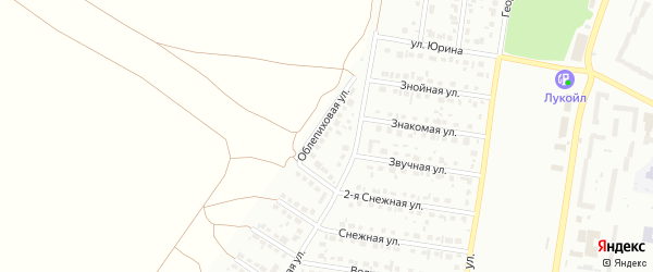 Облепиховая улица на карте садового некоммерческого товарищества N 11 с номерами домов