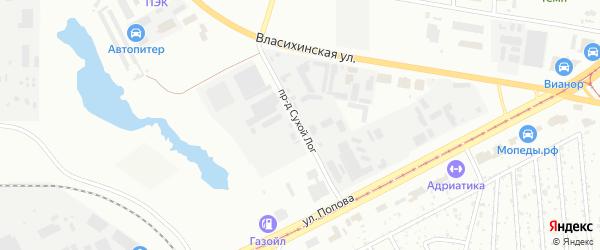 Проезд Сухой Лог на карте Барнаула с номерами домов