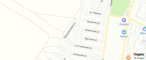 Облепиховая улица на карте садового некоммерческого товарищества N 7 с номерами домов