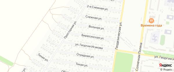 Бирюсинская улица на карте Барнаула с номерами домов