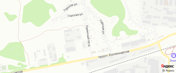 Памятный проезд на карте Барнаула с номерами домов
