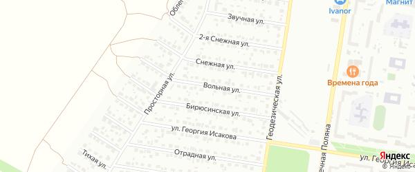 Вольная улица на карте Барнаула с номерами домов