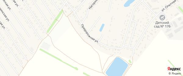 Придорожная улица на карте села Лебяжьего с номерами домов