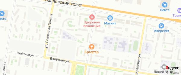 Улица Сергея Ускова на карте Барнаула с номерами домов
