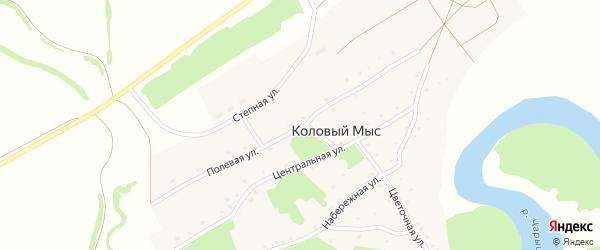 Полевая улица на карте села Колового Мыса с номерами домов