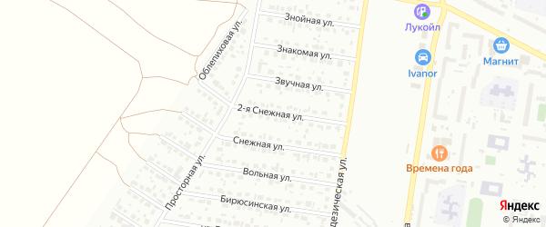 Снежная 2-я улица на карте Барнаула с номерами домов