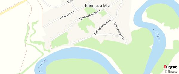 Набережная улица на карте села Колового Мыса с номерами домов