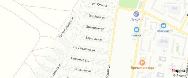 Звучная улица на карте Барнаула с номерами домов