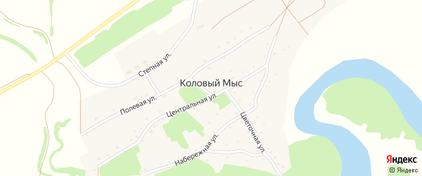 Колхозный переулок на карте села Колового Мыса с номерами домов
