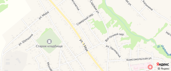 Строительный переулок на карте села Усть-Чарышской Пристани с номерами домов