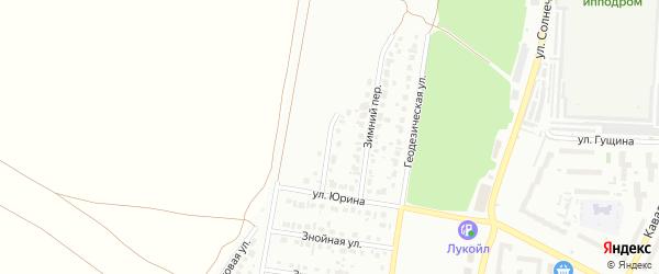 Закатный переулок на карте Барнаула с номерами домов