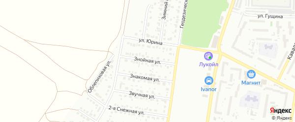 Знойная улица на карте Барнаула с номерами домов
