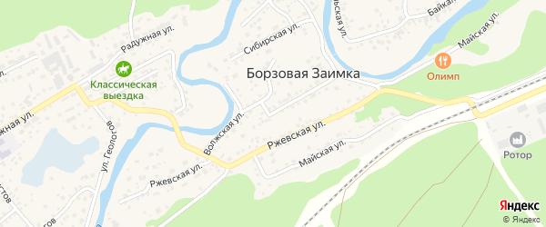 Волжская улица на карте поселка Борзовой Заимки с номерами домов